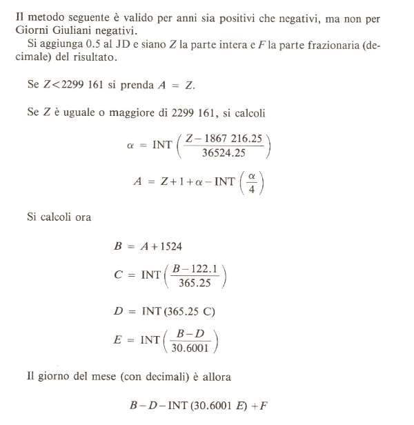 Calendario Giuliano Conversione.Formule Calendari Gregoriani Giuliani
